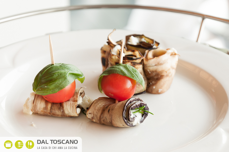 ricetta vegetariana Involtini di melanzana