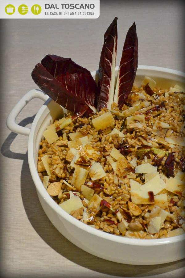 ricetta Insalata di farro con radicchio rosso, faraona e aceto balsamico Gianfranco Allari