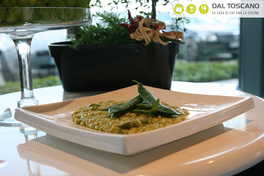 Ricetta risotto piselli asparagi pesto Gianfranco Allari