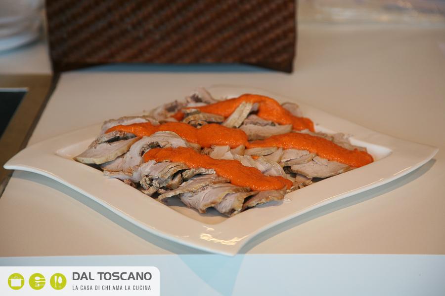 Ricetta arrosto freddo con salsa vegetale di Gianfranco Allari