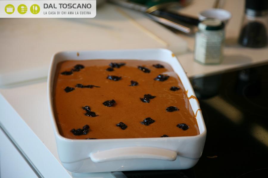 Budino al cioccolato con zabaione alle amarene Gianfranco Allari