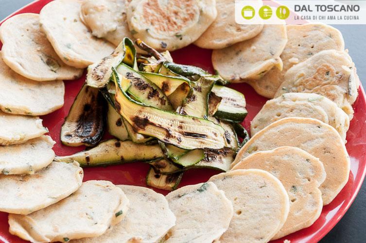 ricetta Pancake con zucchine, pesce spada e robiola al limone
