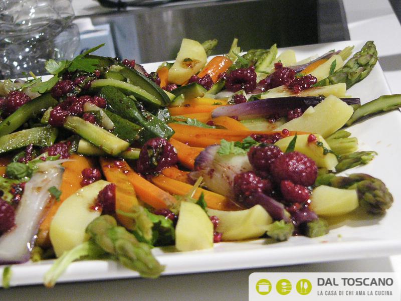 ricetta insalata al vapore con salsa ai frutti di bosco Gianfranco Allari