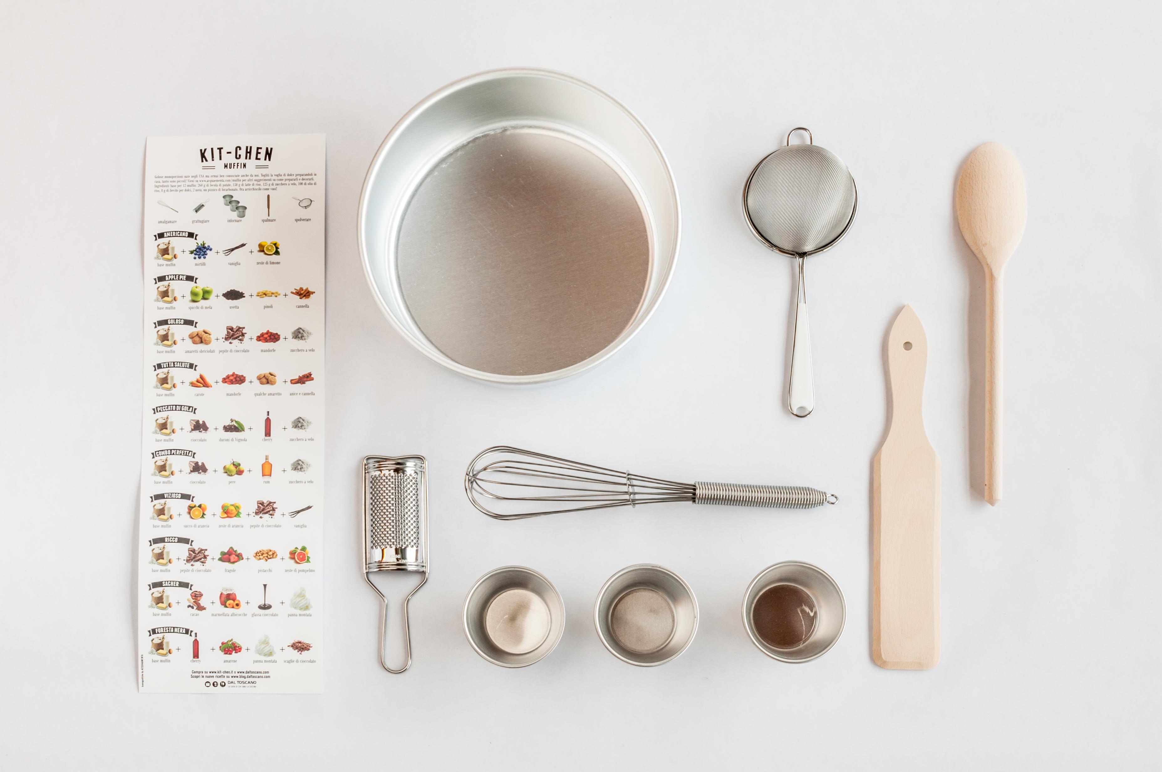 Kit-Chen set utensili e stampi per torte e muffin