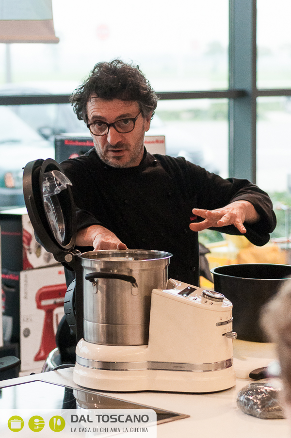 chef Ettore Giallongo KitchenAid al Centro Casalinghi Dal Toscano di Cerese (Mantova)