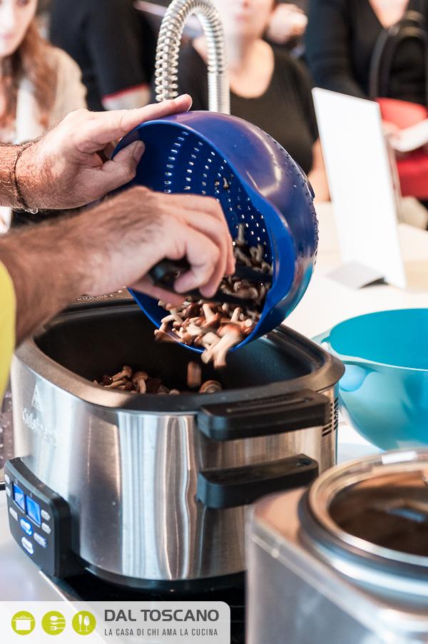 cucinare funghi nel Cuisinart Multicooker