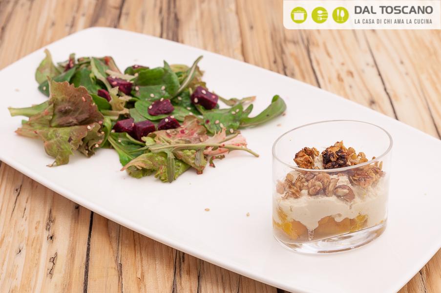 Ricetta Bicchierini di zucca arrosto e crema di tofu Sara Codeluppi