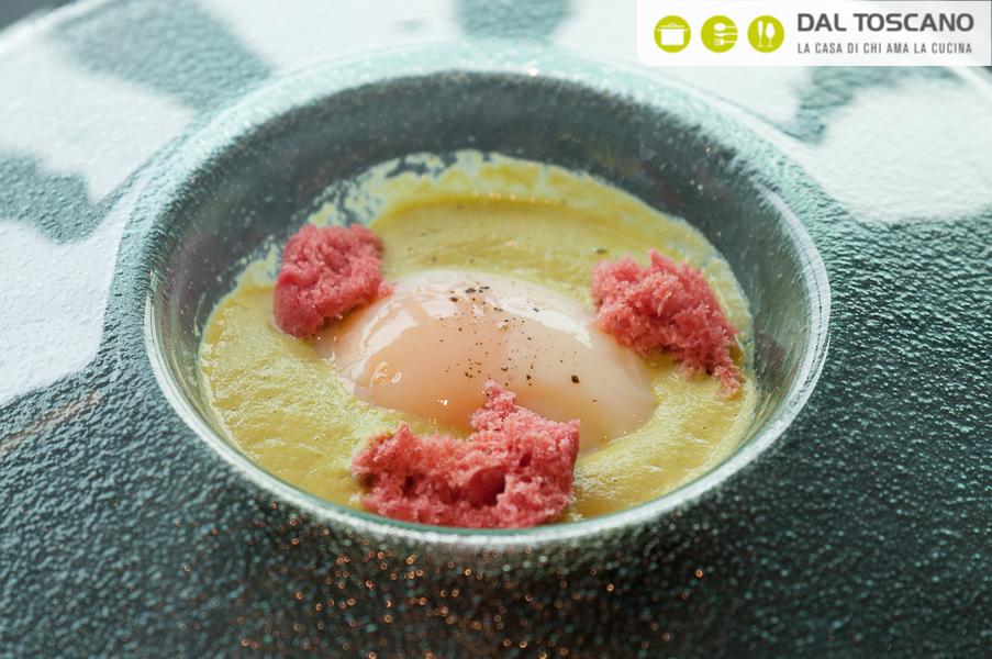 ricetta uovo con spuma asparagi