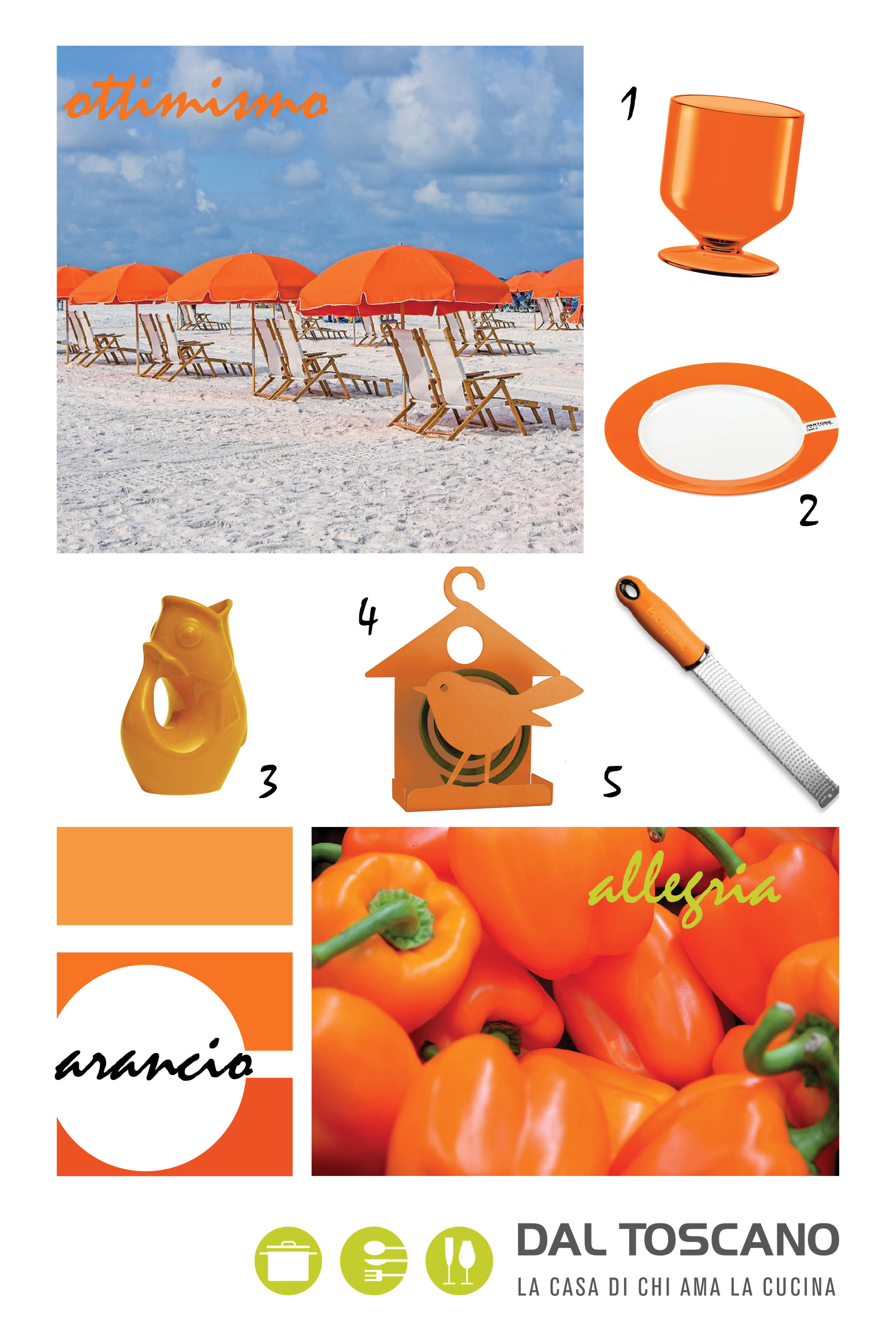 complementi d'arredo casa arancioni