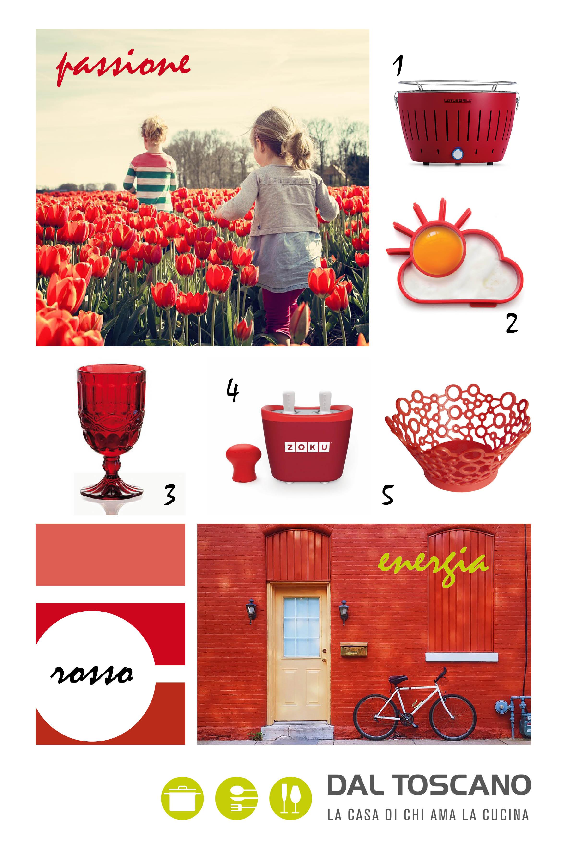 accessori per la casa rossi
