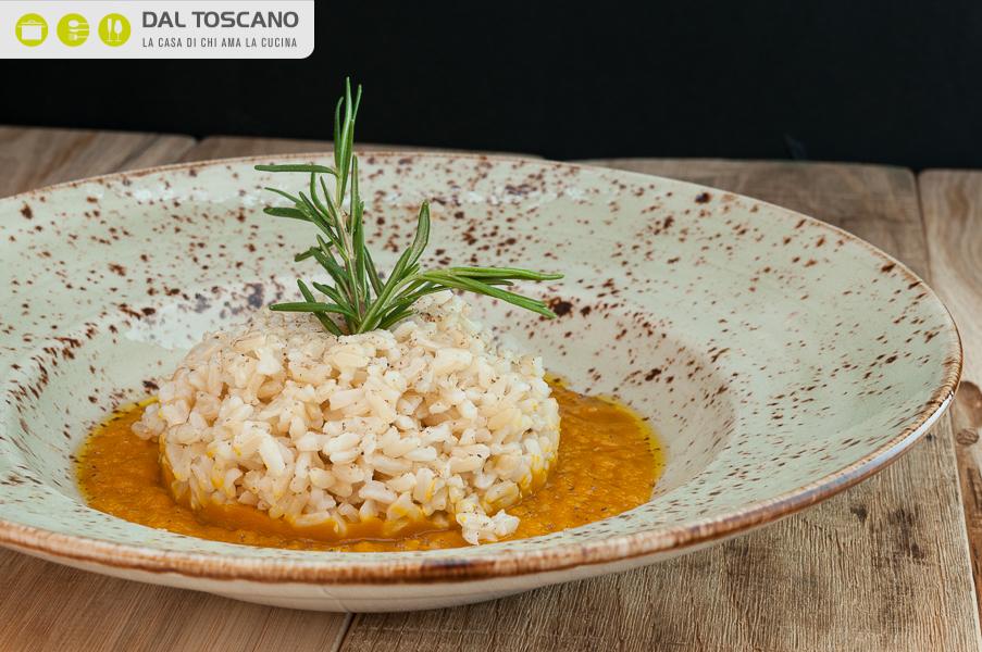 ricetta riso integrale rosmarino crema zucca Roberto Cuculo