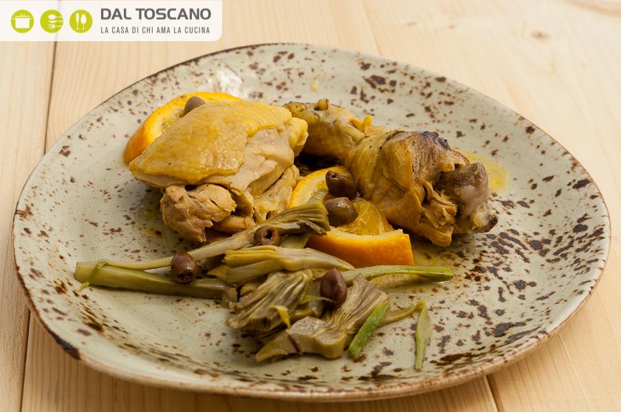 ricetta pollo arancia carciofi Gianfranco Allari