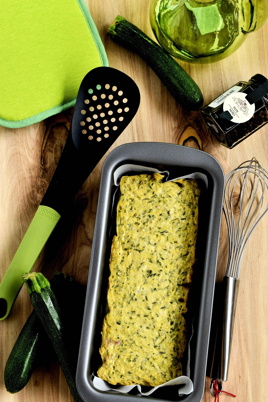 Sformato di zucchine, stracchino e pancetta