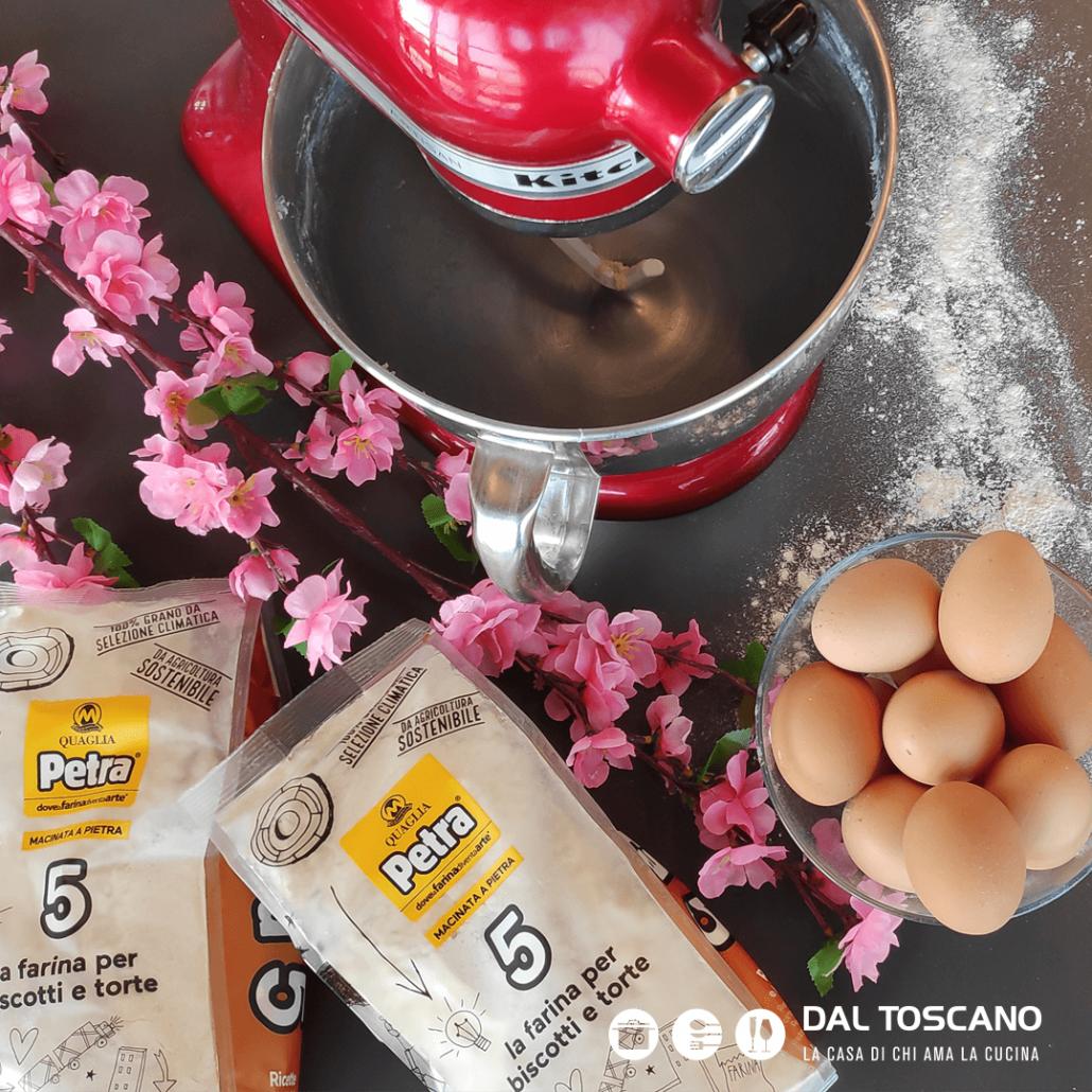impastatrice Kitchenaid, farina Molino Quaglia, uova