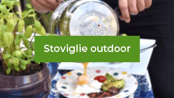 Stoviglie Outdoor per cena in terrazza con amici