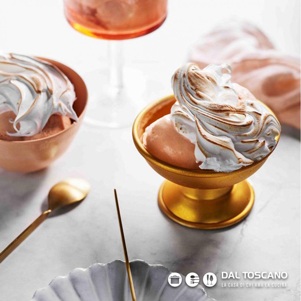 Coppette gelato fatto in casa con gelatiera