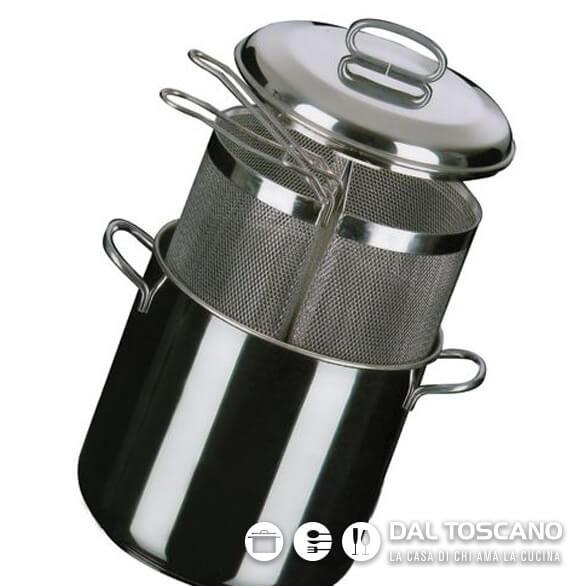 Pentola per pasta con scolapasta in acciaio Metalsomma