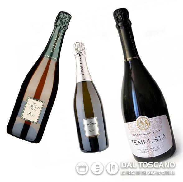 Bottiglie vini spumanti per capodanno