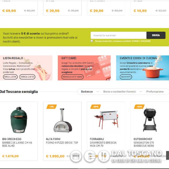 New web site _ dal toscano