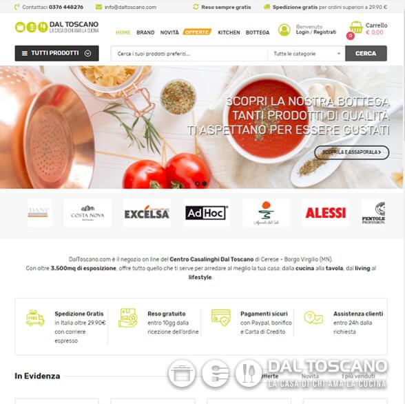 Nuovo e-commerce centro casalinghi Dal Toscano