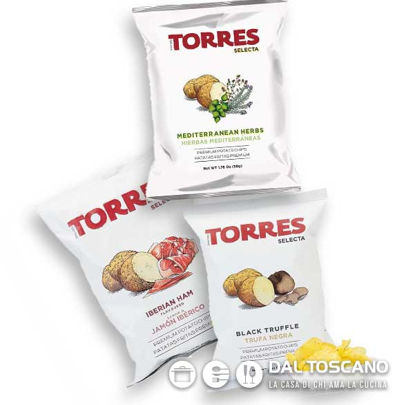 Torres patatine in sacchetto