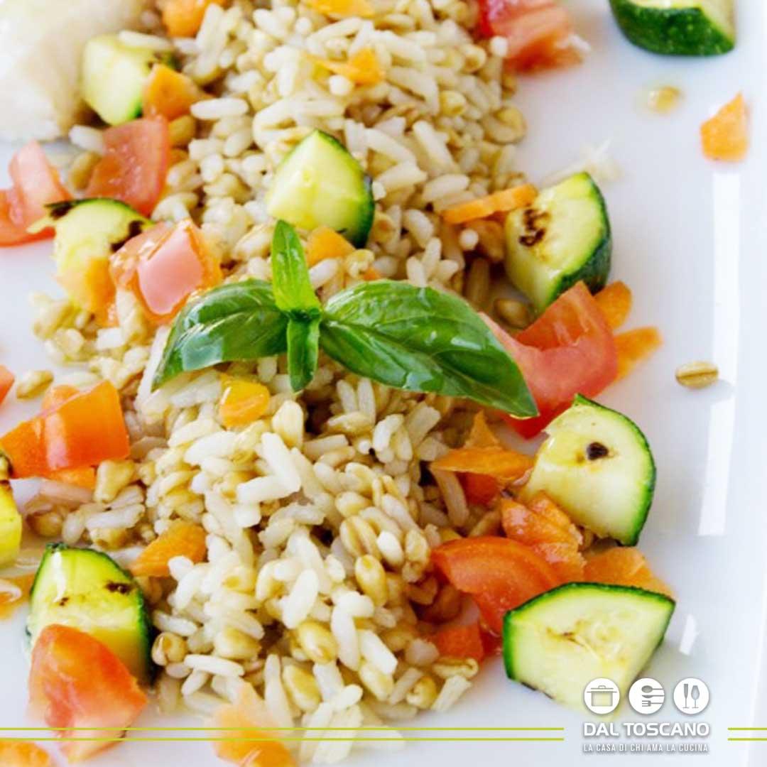 ricetta Insalata di riso con pesto di rucola e merluzzo